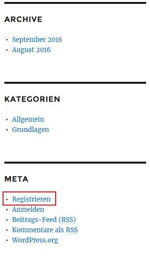 Link zur Registrierung